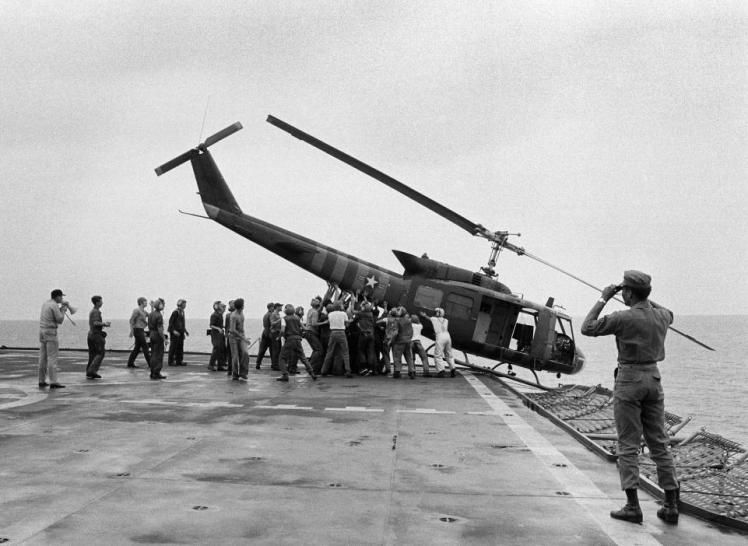 evacuating Saigon