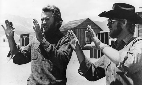 Bruce Surtees, right, with Clint Eastwood