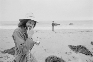Young shooting the cover for On the Beach