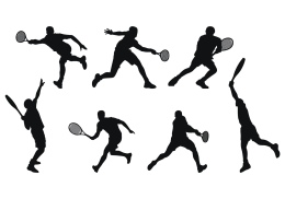 vector-tennis-player-silhouette