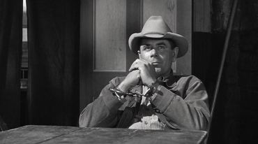 3 10 to Yuma 1957 77 Glenn Ford in handcuffs plotting