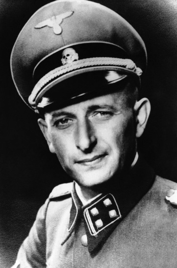 "FILE -In this undated file picture Adolf Eichmann at the height of his power as the Nazi SS Lieutenant Colonel in charge of Hitler's Jewish bureau is photographed at unknown location. A media report says a newly released document shows that Germany's BND intelligence agency knew as early as 1952 that Adolf Eichmann, the Nazi leader who orchestrated the Holocaust, was hiding in Buenos Aires. Saturday's Jan. 8, 2011 report in Bild newspaper comes after the U.S. in 2006 released files showing the CIA told the BND in 1958 Eichmann ""is reported to have lived in Argentina"" since 1952. (AP Photo,File)"