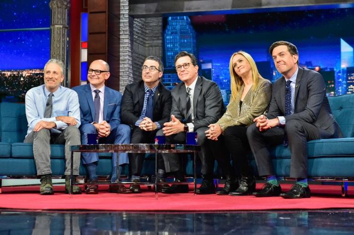 Jon Stewart, Stephen Colbert, Samantha Bee, Ed Helms, John Oliver, Rob Corddry